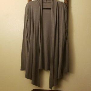 Gray cardigan light weight